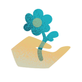 A hand with a flower