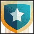 star on shield