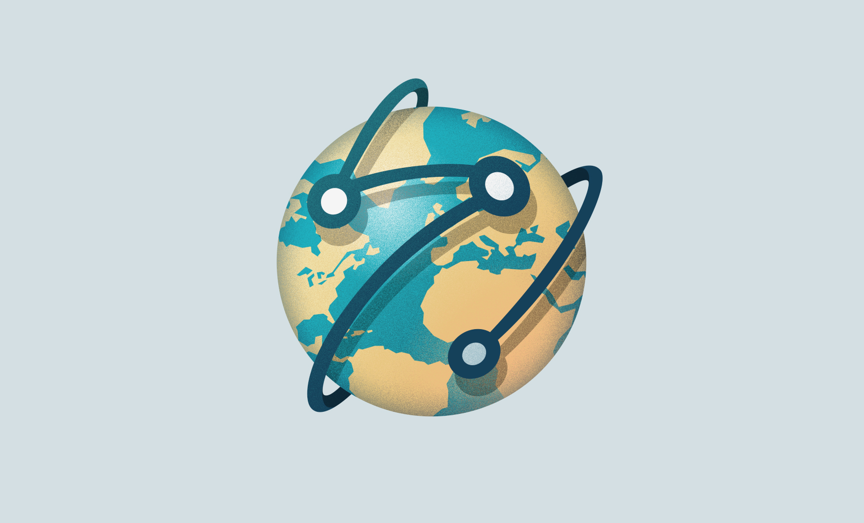 An image of a globe representing the ESHRE conference