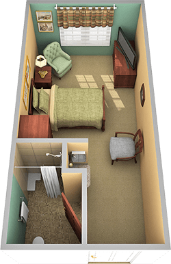 The Johnson Center Assistant Living Apartment in Falcons Landing Life Plan Community