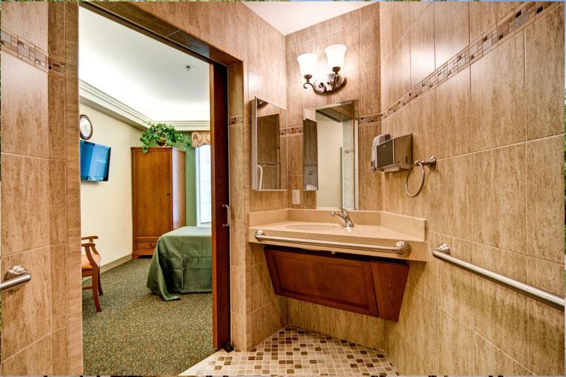 Falcons Landing Life Plan Community Short Term Rehabilitation Bathroom
