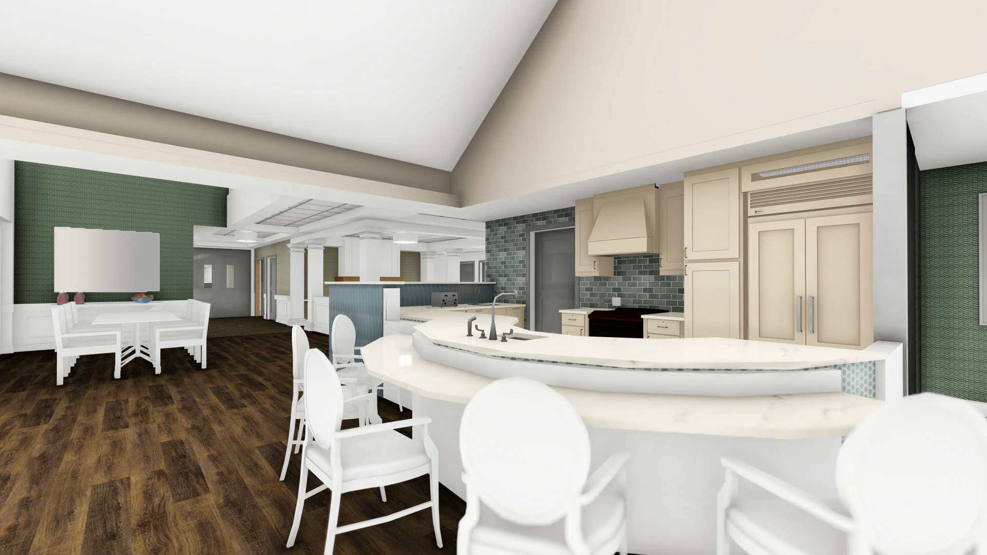 Falcons Landing Life Plan Community Memory Care Country Kitchen