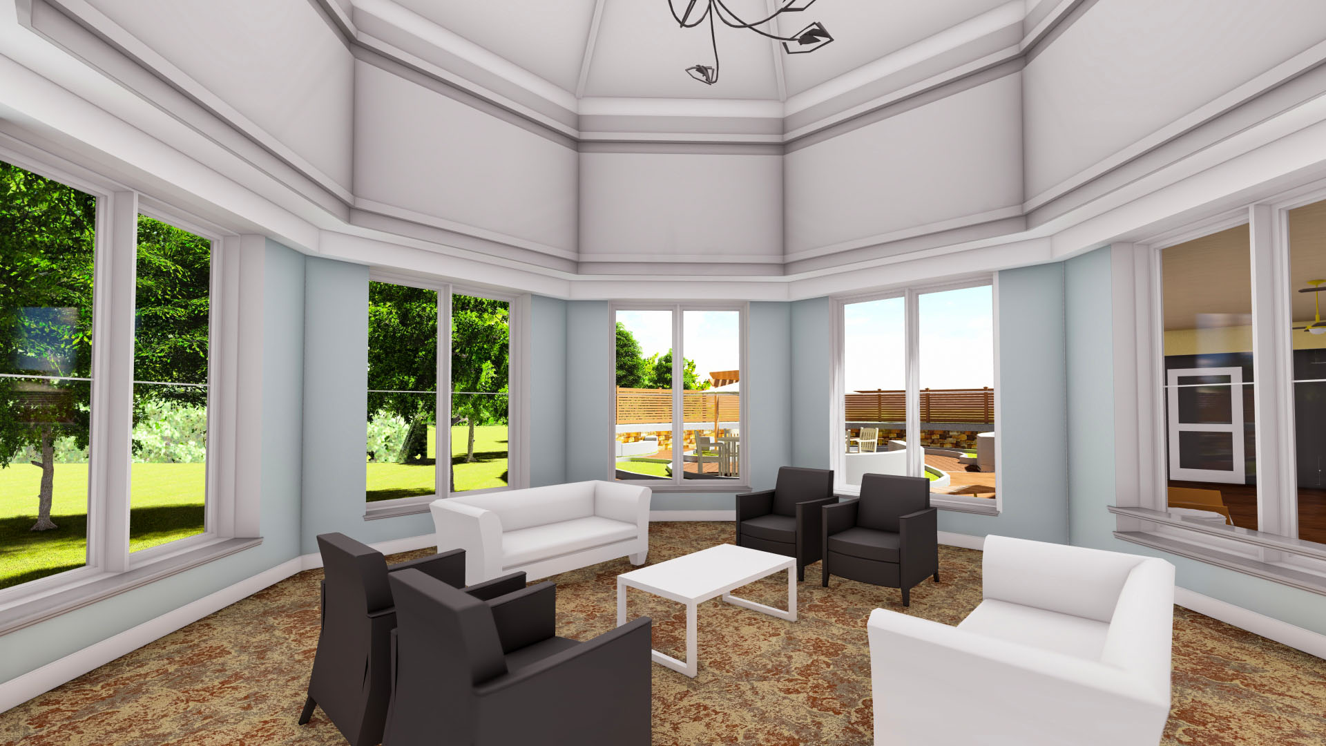 Falcons Landing Life Plan Community Memory Care Sunroom