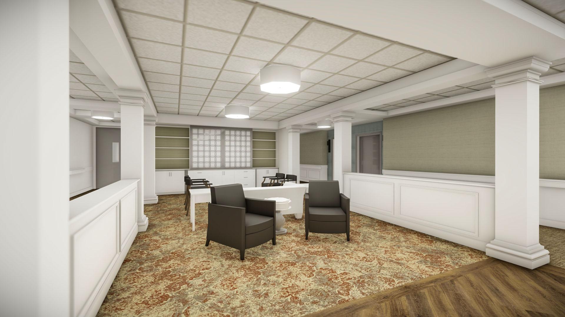 Falcons Landing Life Plan Community Memory Care Living Room