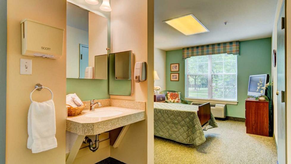 The Johnson Center Skilled Nursing Center Studio, Falcons Landing Life Plan Community