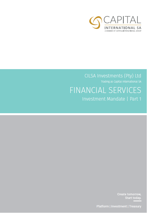 Application Form - Part 1 | Capital SA Investment Management