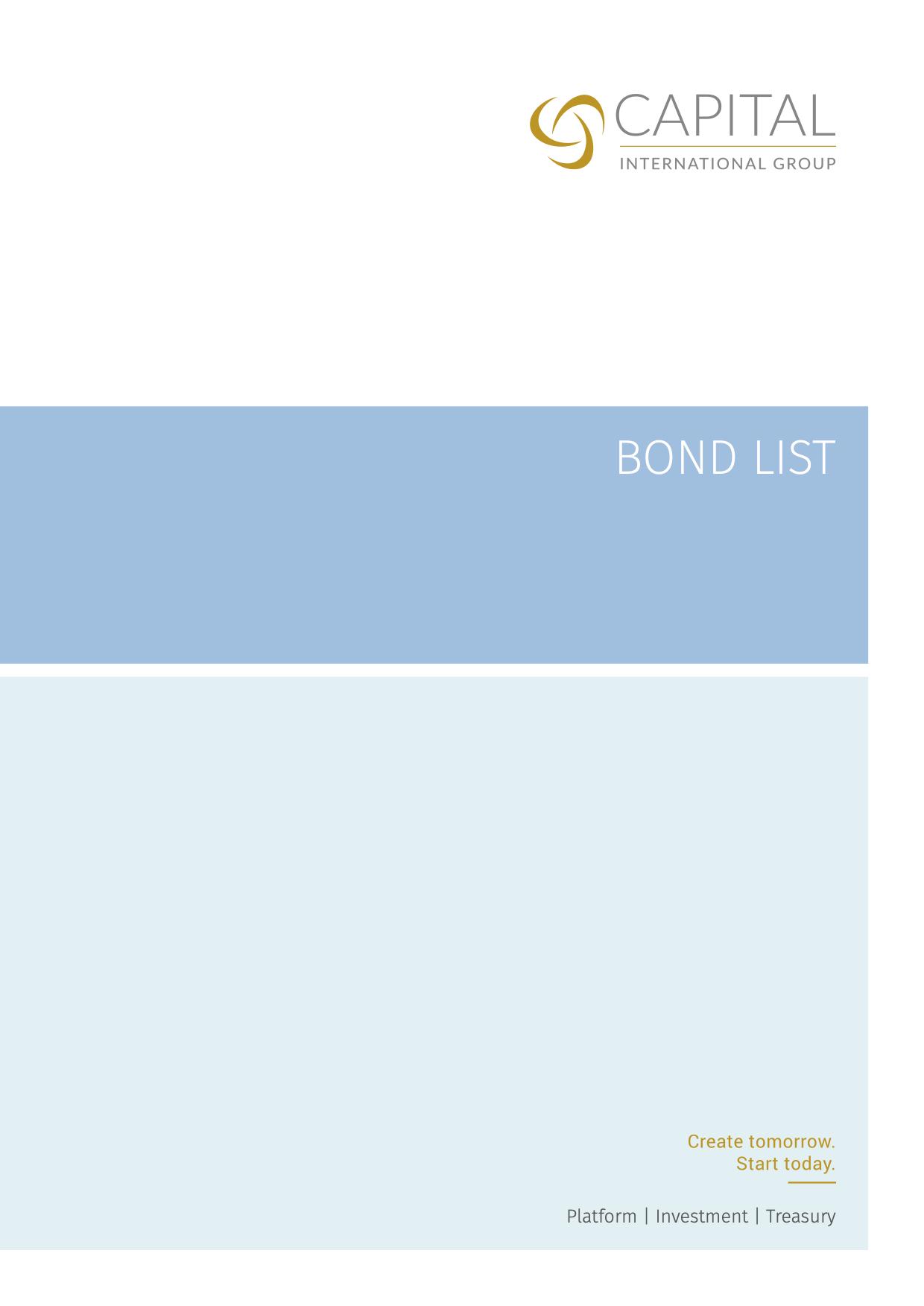 Bond List June 2020