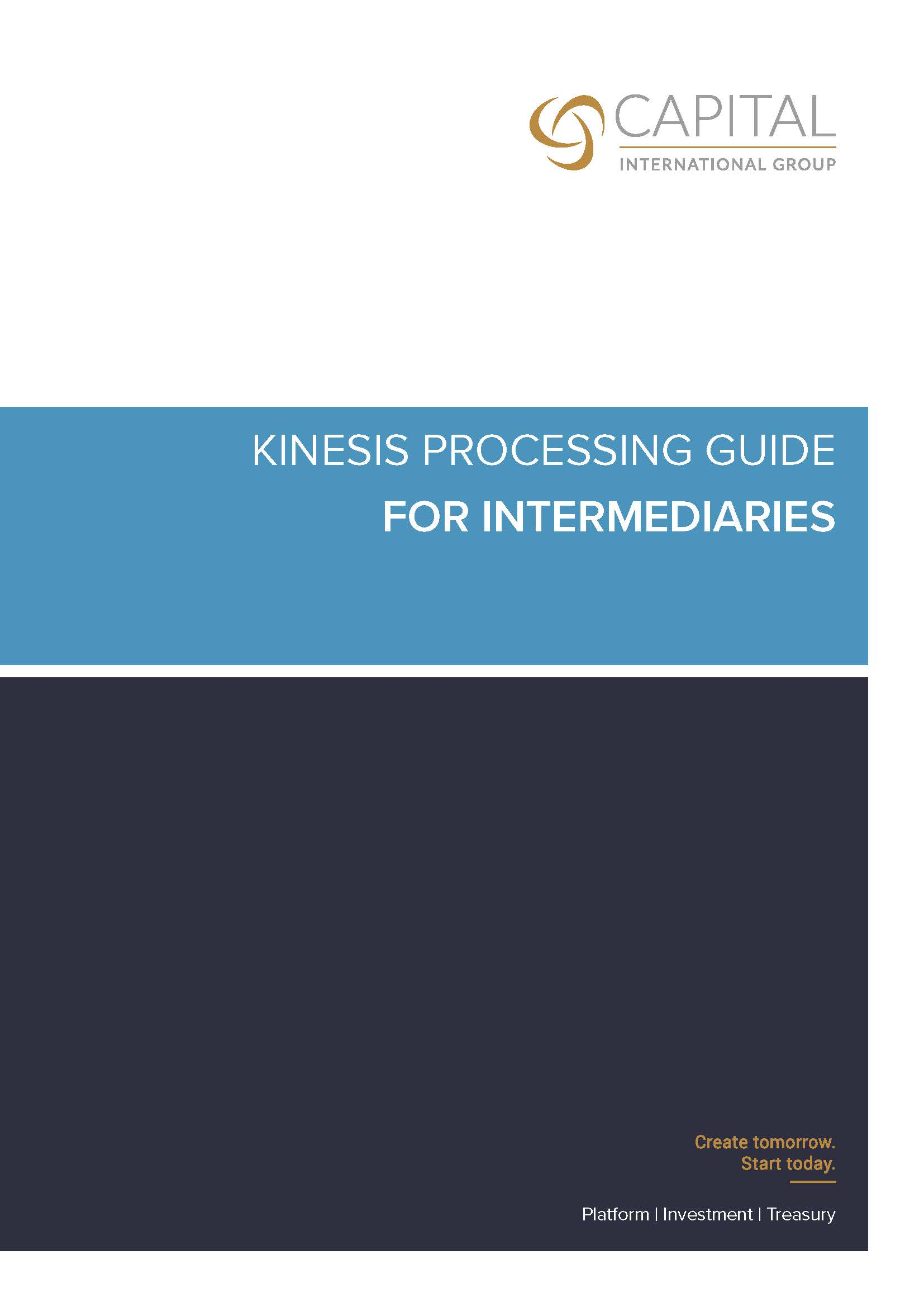 Kinesis Processing Guide for Intermediaries