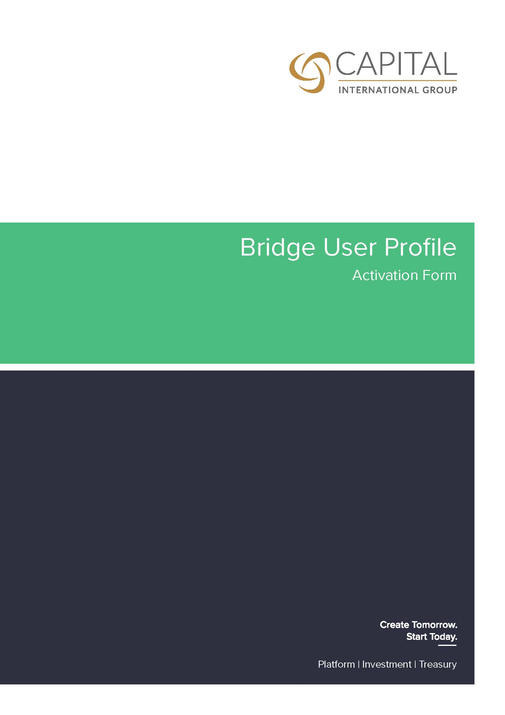 CTS Bridge User Profile Activation Form