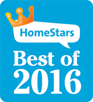 You Move Me won HomeStars Best of 2016 award