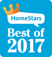 You Move Me won HomeStars Best of 2017 award