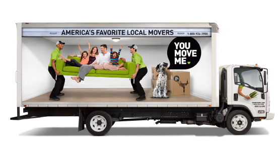 America's Favorite Local Movers You Move Me truck