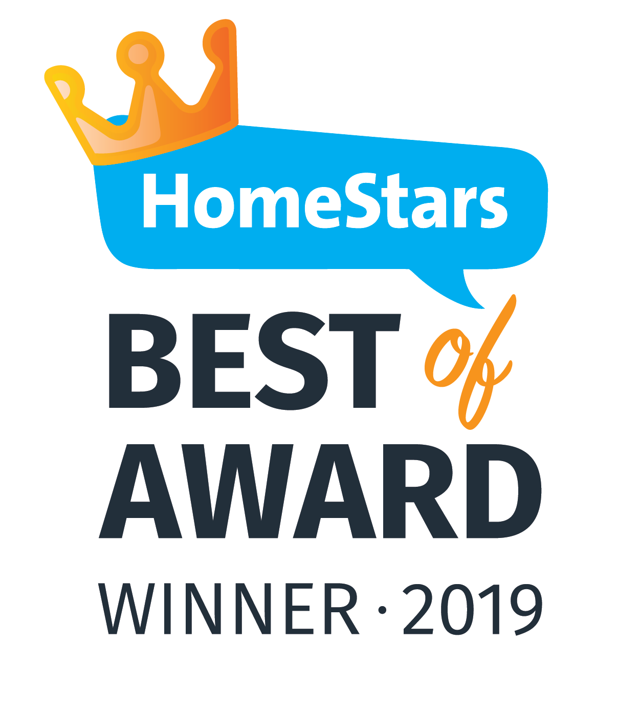 You Move Me won HomeStars Best of 2019 award