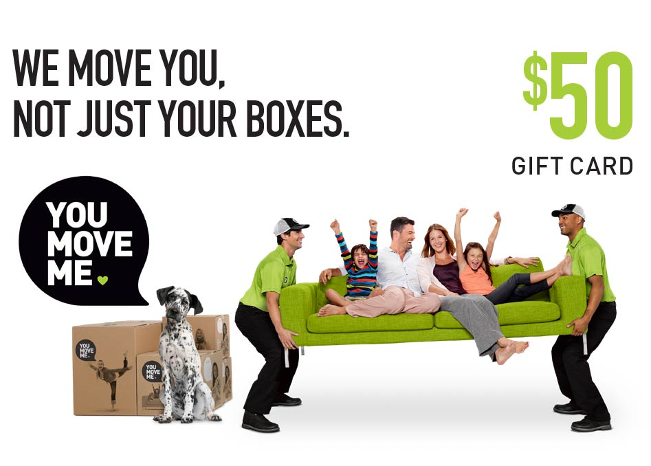 You Move Me $50 gift card