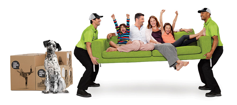 You Move Me team moving family on sofa