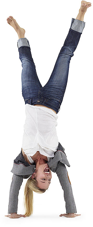Person doing a handstand