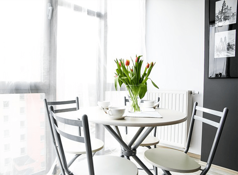 Tulips on Dining Table