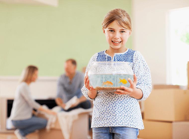 Girl Holding Goldfish