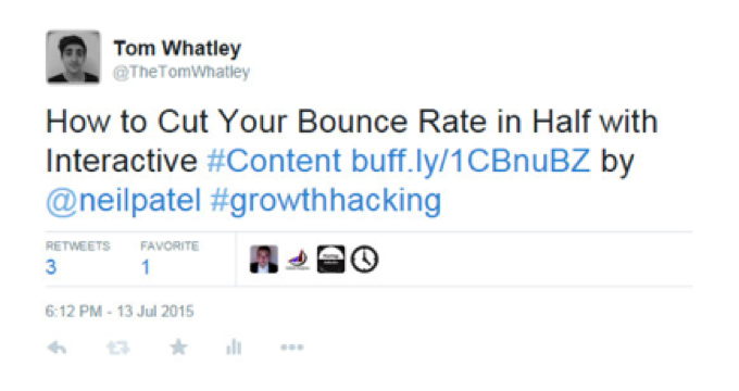 Tom Whatley and Neil Patel on Twitter