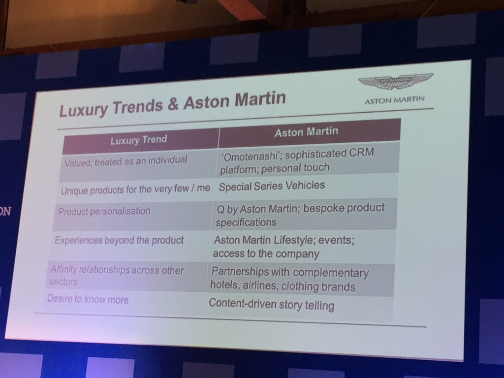 Aston Martin on Personalization and Social Influence