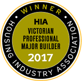 HIA Victoria's Most Professional Major Builder award logo