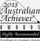 Australian Achiever Awards Excellence in Customer Service award logo