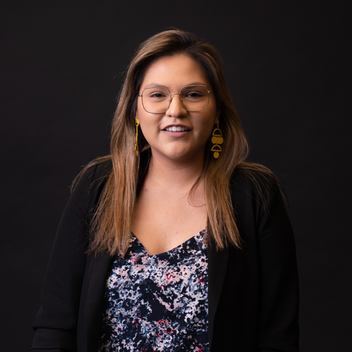 Headshot of Nathaly Flores, Motion Graphics Designer