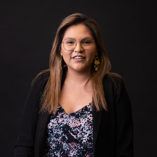 Headshot of Nathaly Flores, Motion Graphics Designer
