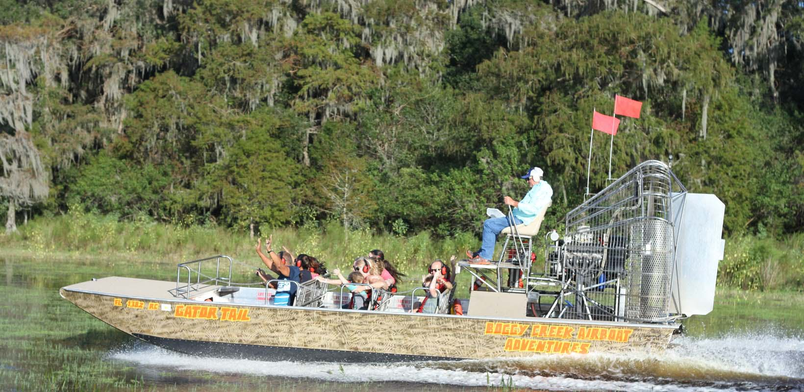Private 1 Hour Central Florida Everglades Airboat Tour with Park Admission