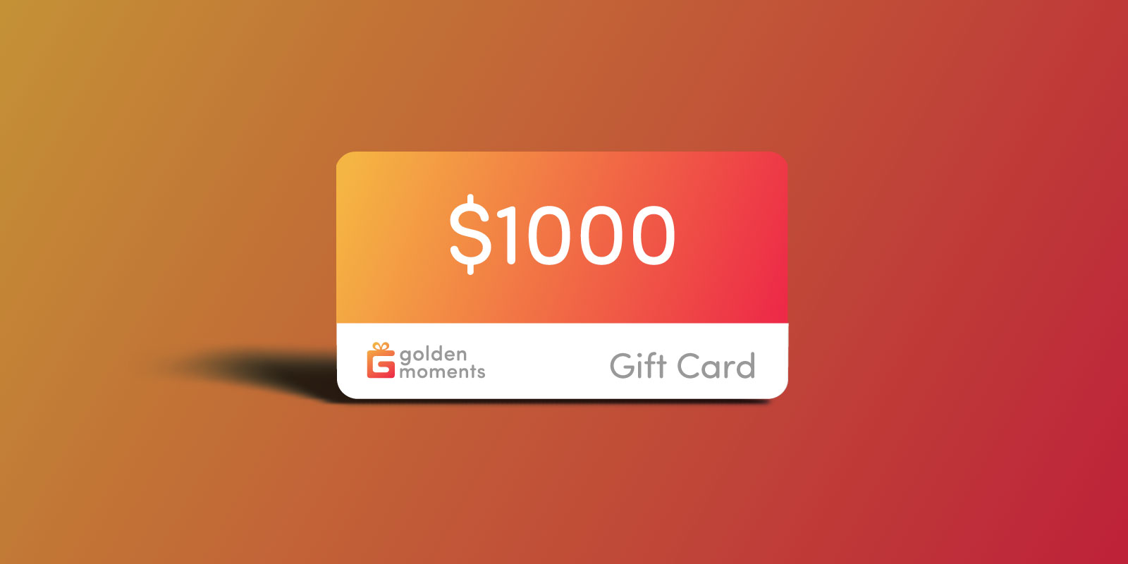 $1000 USD Golden Moments Gift Certificate