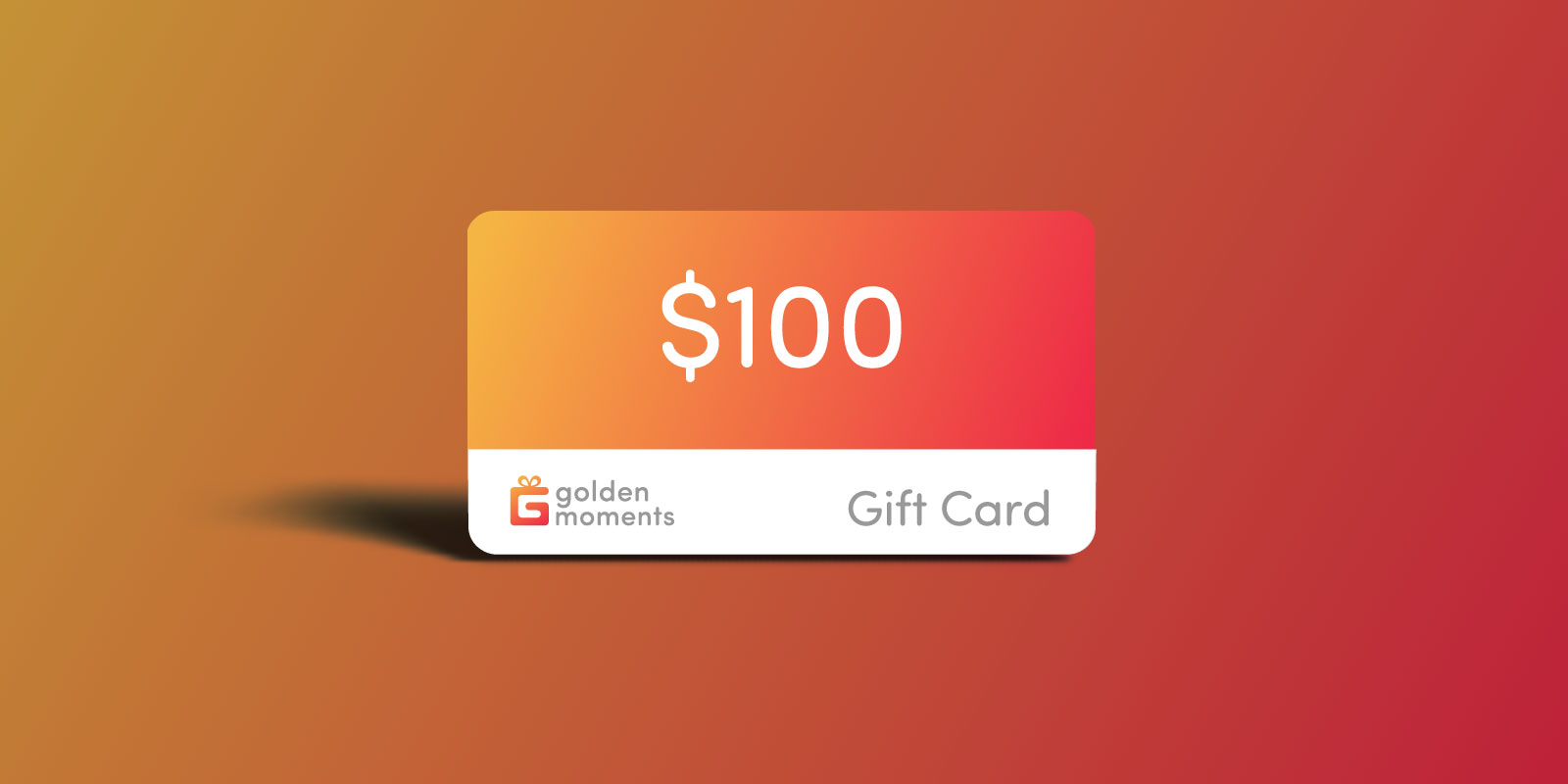100 USD Golden Moments Gift Certificate