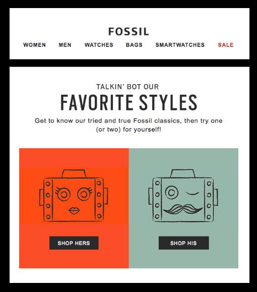 Fossil - Ecommerce Business - Sendlane