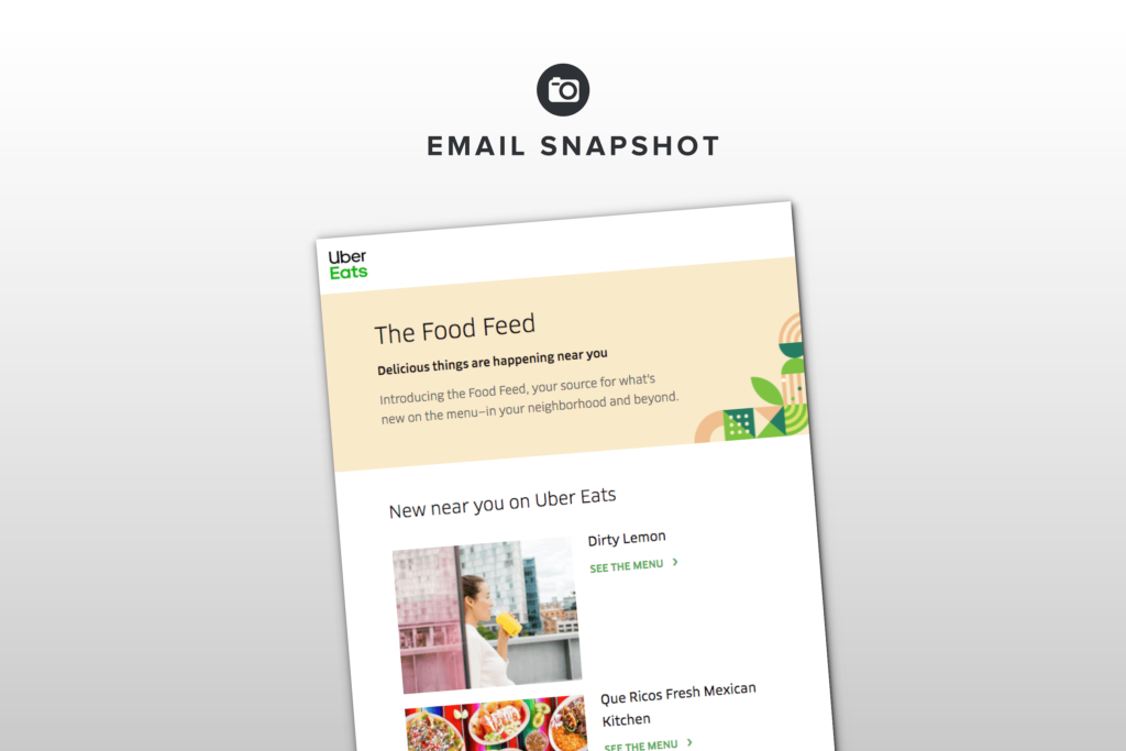 How Uber Eats Drives Conversions With Personalized Newsletter Content