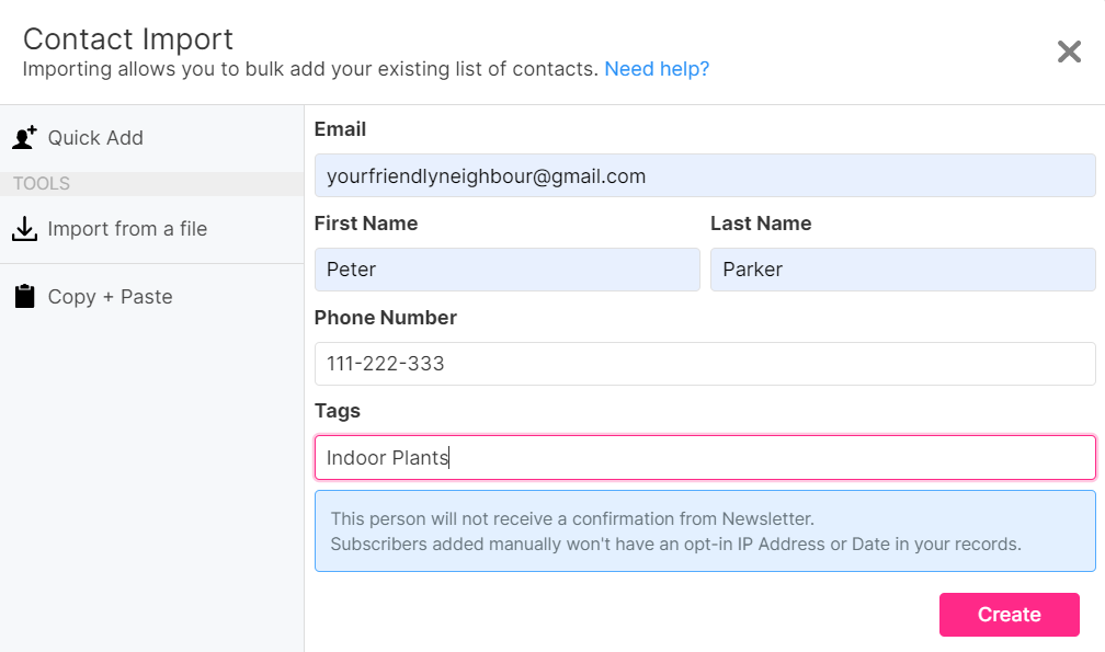 Sendlane_email_marketing_contact_tagging