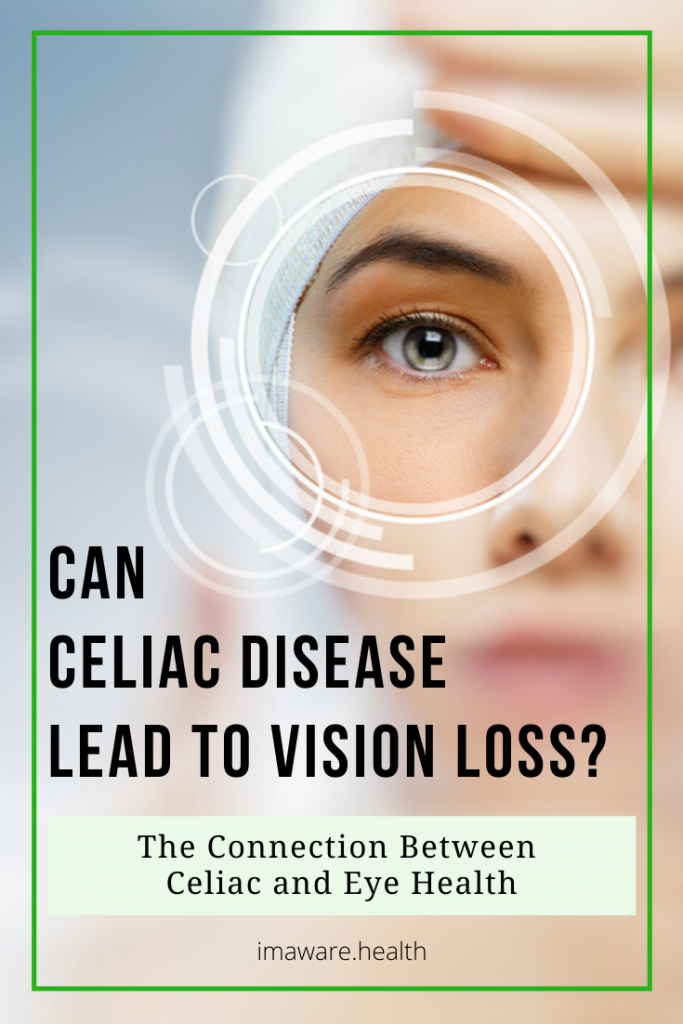 Celiac Disease and Eye Health image asking can celiac disease lead to vision loss?