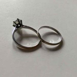 before shot engagement ring remodelling