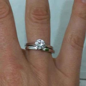 remodelling a trapezoid bridal ring