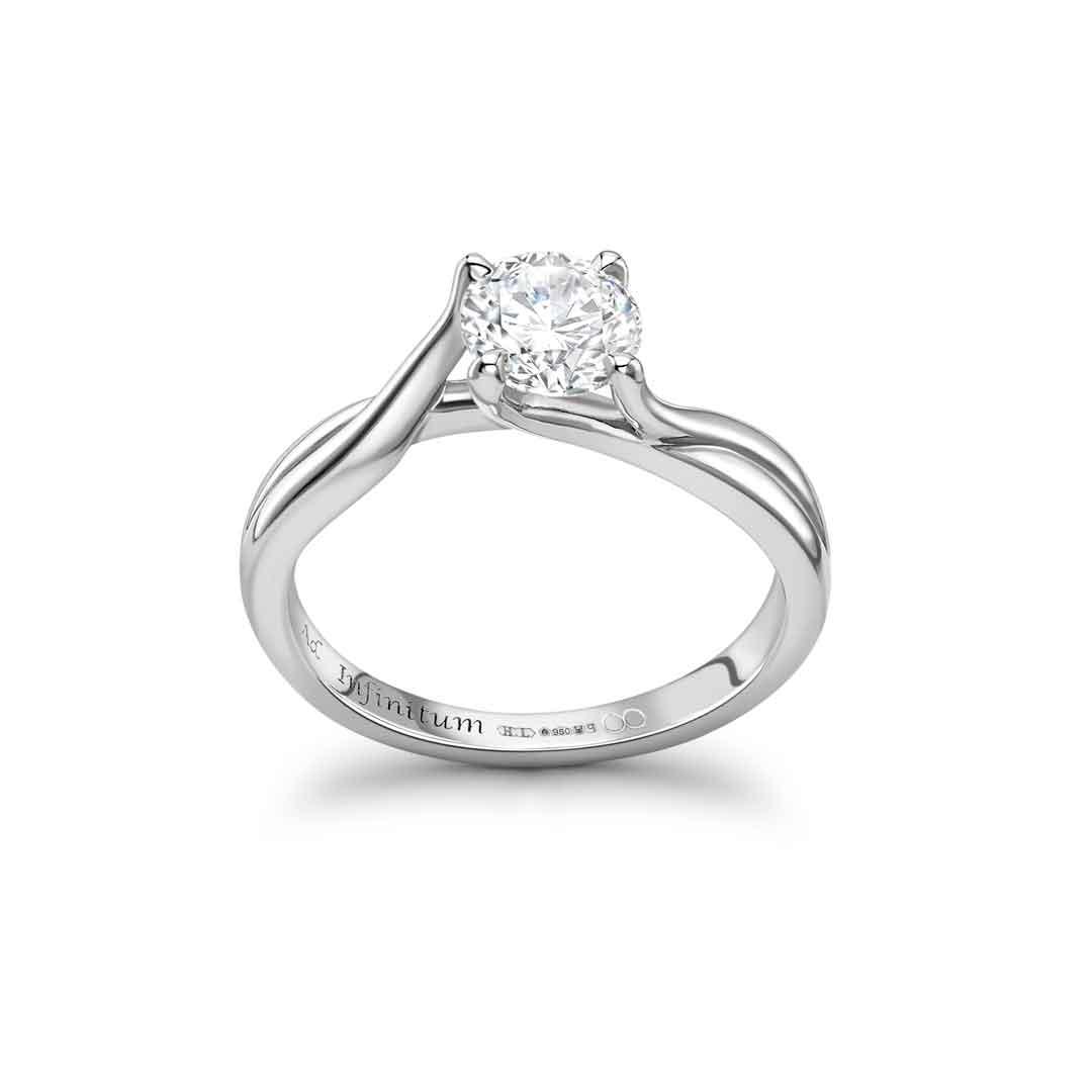 engagement ring london hatton garden by heirloom with round diamond