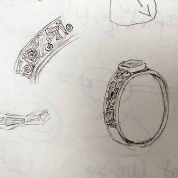 Emerald ring remodelling favourite concept