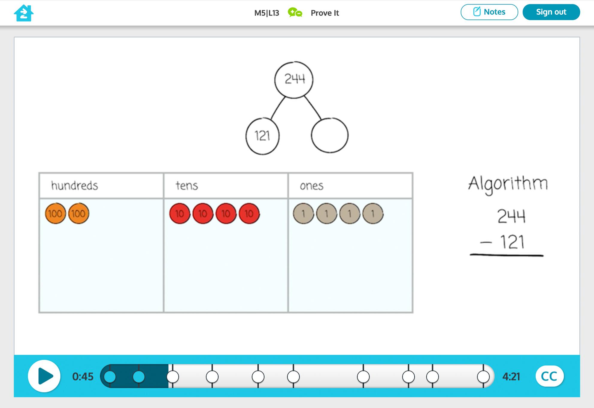 Grade 2 math activity, preview image