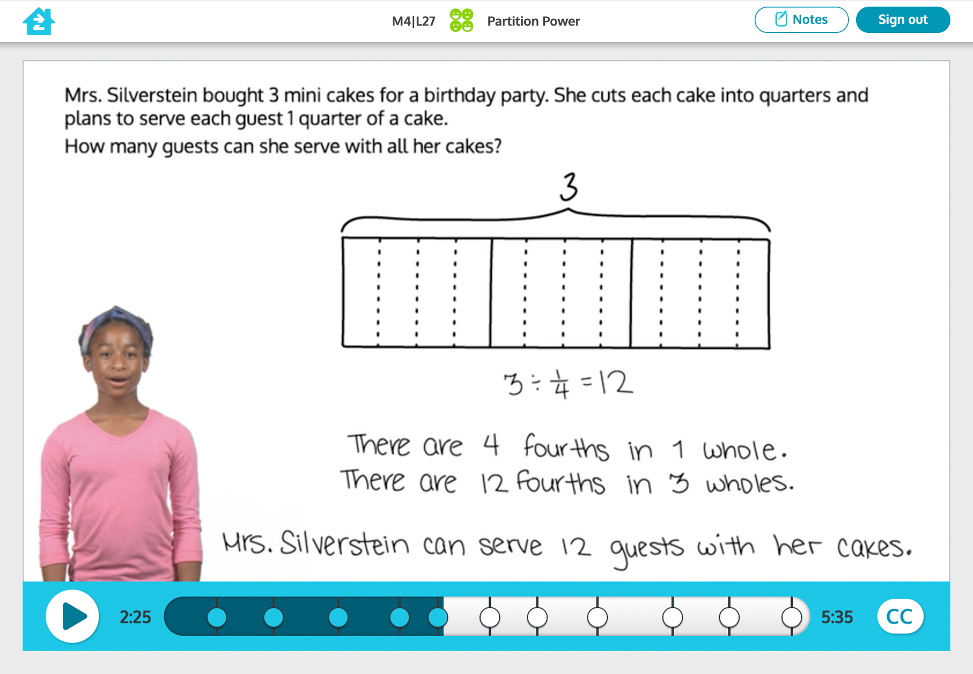 Grade 5 math activity, preview image