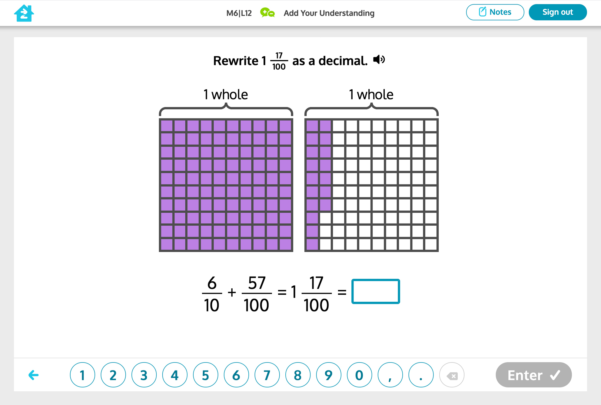 Grade 4 math activity, preview image