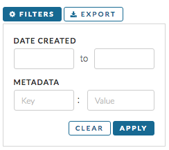 Metadata Filter Input on Dashboard