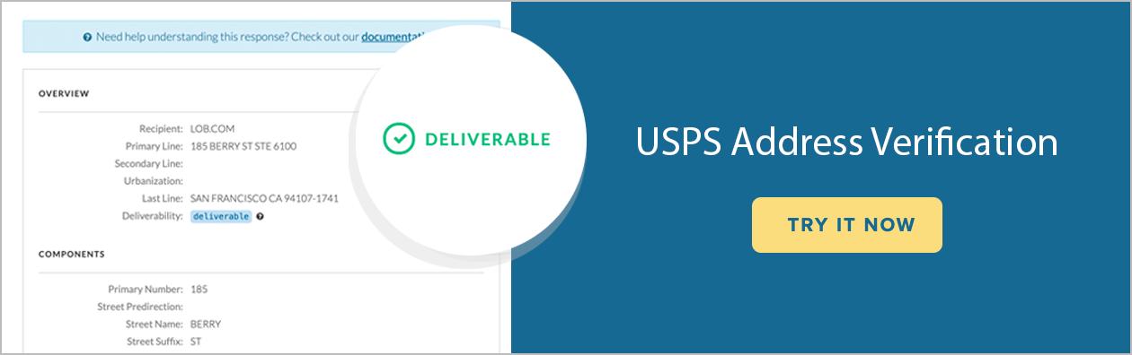 USPS Address Verification: Try it now.