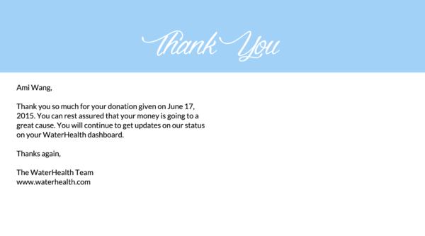 Customer Thank You Postcard