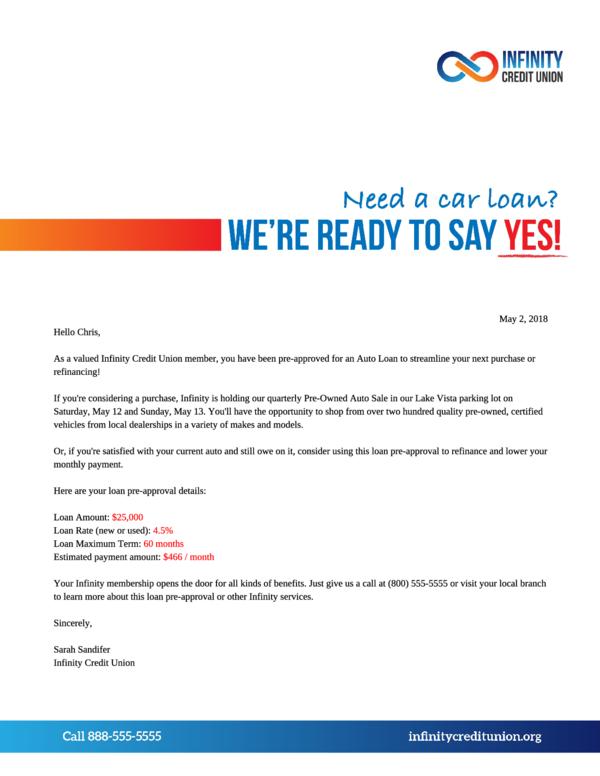 Loan Pre-Approval Letter