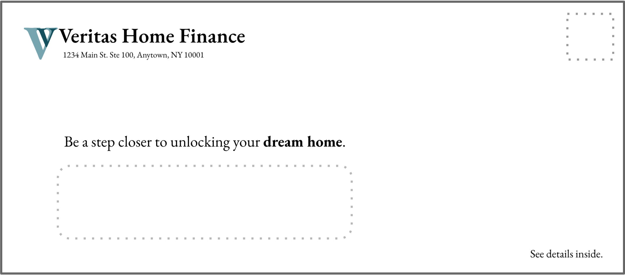 Home Financing Outer Envelope