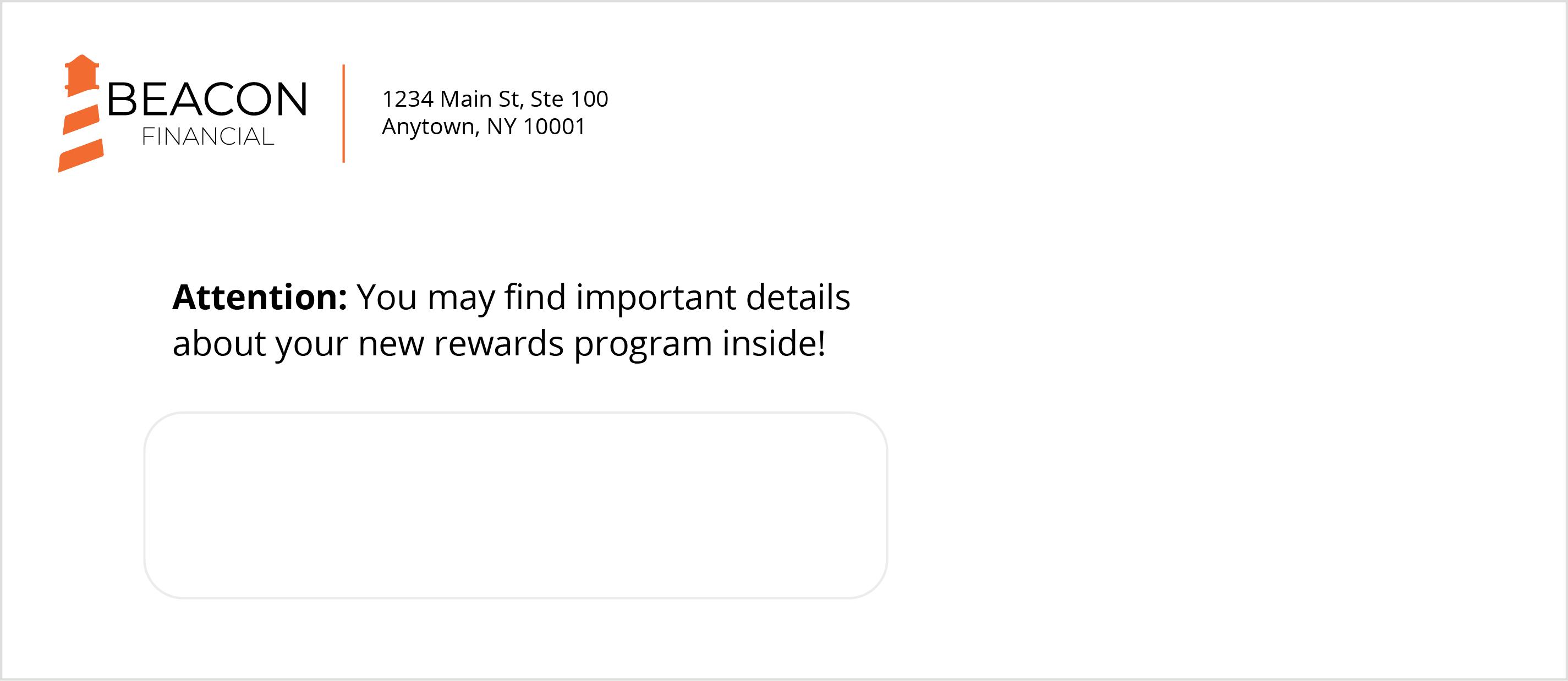 Try this custom envelope template.