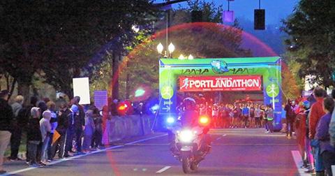 Portlandathon kicks off early in the morning.