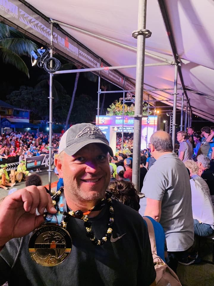 Eric Koenigs with his IRONMAN World Championship medal